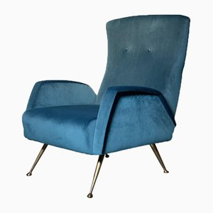 Mid-Century Italian Reupholstered Easy Chair in the Style of Marco Zanuso, 1950s