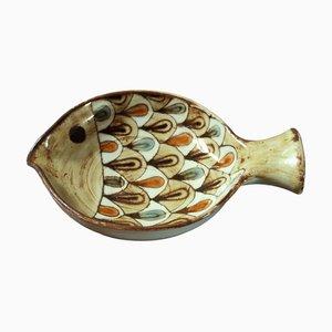 Ceramic Fish Vide Poche by Jean Claude Malarmey for Atelier du Vieux Moulin, 1960s