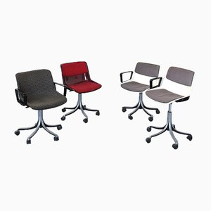 Plastic Chairs with Metal Alloy, Set of 5