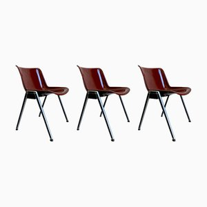 Chairs by Osvaldo Borsani for Tecno, Set of 3