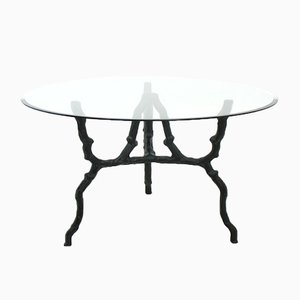 Vintage Brutalist Table in the Style of Diego Giacometti
