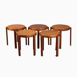 Scandinavian Teak Tables, Set of 5