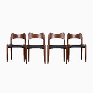 Dining Chairs by Arne Olsen Hovmand for Mogens Kold, Set of 4