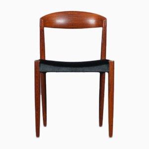 Scandinavian Teak Chair with Velvet by Harbo Sølvsten & Knud Andersen for J.C.A. Jensen, 1960s