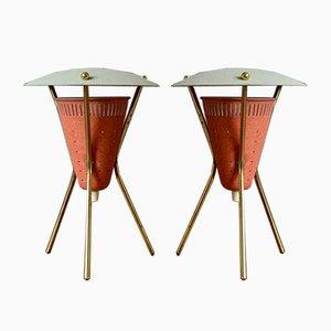 Mid-Century Tripod Lamps, Set of 2