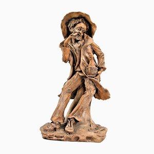 Der fröhliche alte Mann, Clay Skulptur
