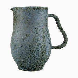 Danish Jug in Glazed Ceramics by Arne Bang, 1940s