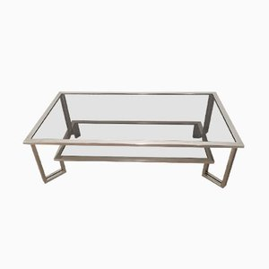 Chrome & Smoked Glass Coffee Table