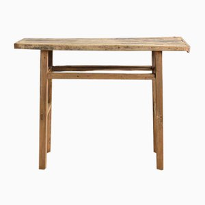 Small Antique Elm Console Table