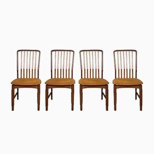 Mid-Century Danish Teak Dining Chairs by Svend Åge Madsen, Set of 4