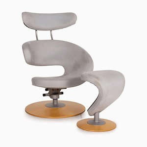 Stokke Peel Ii Fabric Armchair with Stool, Set of 2