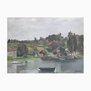 René Guinand, Paysage à la Belotte, Genève, Lac Léman, 1930
