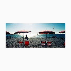 Parasols, Morgan Silk, Seaside, Photograph