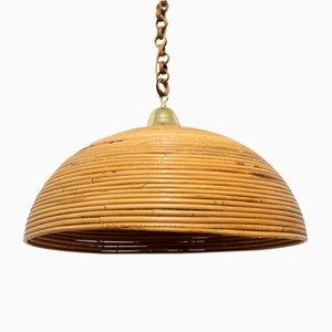 Vintage Bamboo Pendant Lamp, 1970s