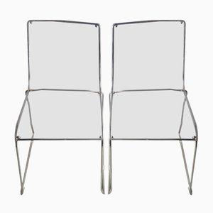Italian Plexiglass Chairs from Calligaris, Set of 2