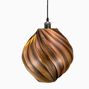 Ardere Smoked Satin Walnut Pendant Lamp by Gofurnit