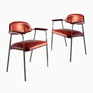 Modernist Free-Form Chairs by Pierre Paulin for Steiner, 1950s, Set of 2