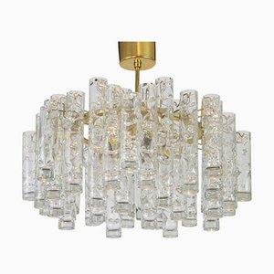 Tubular Murano Glass Chandelier from Doria Leuchten, Germany, 1960s