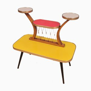 Mid-Century German Colorful Plant Stand or Side Table, 1950s