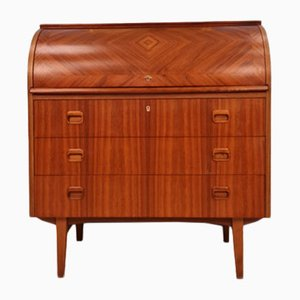 Mid-Century Swedish Roll-Top Desk or Secretaire by Egon Ostergaard, 1960s