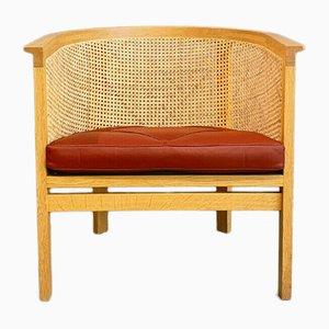 7701 Easy or Side Chair in Oak & Leather by Rud Thygesen & Johnny Sørensen for Botium