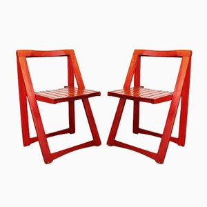 Folding Chairs by Aldo Jacober for Alberto Bazzani, 1970s, Set of 2