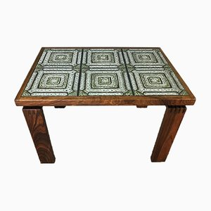 Mid-Century Coffee Table with Tiled Top from Trioh, Denmark