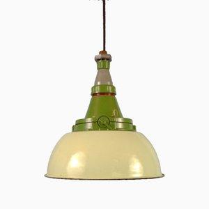 Industrial Enamel Pendant Lamp, Soviet Union, 1980s