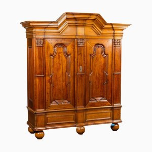 Large German Baroque Hall Cabinet in Fruitwood, 1730s