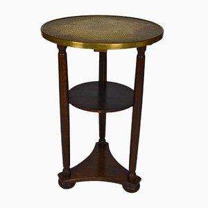 Art Nouveau Austrian Side Table with Embossed Brass by Josef Hoffmann, 1910