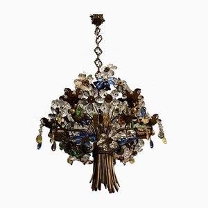 Murano Glass Bouquet of Flowers Chandelier, 1960s