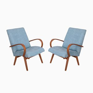 Vintage Model 53 Lounge Chairs by Jaroslav Smidek for TON, 1960s, Set of 2