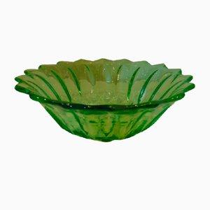 Art Deco Uranium Glass Platter from Niemen Glassworks