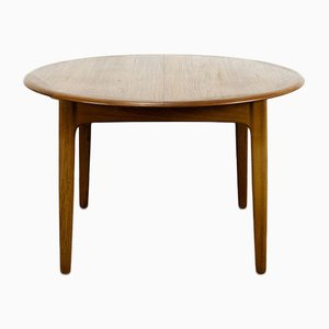 Danish Teak Extendable Dining Table by Svend Aage Madsen for K. Knudsen & Son, 1960s