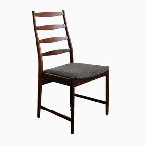 Danish Dark Wood Dining Chairs by Arne Vodder, 1960s, Set of 4