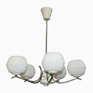Opal Glass Bulb Ceiling Light, 1970s