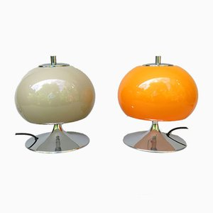 Space Age Trumpet Base Table Lamps, Set of 2