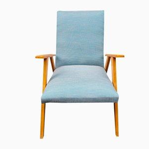 Scandinavian Blue Armchair, 1960s