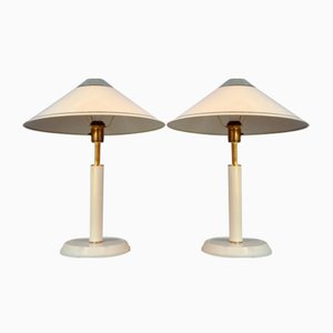 Large Swedish Table Lamps from Öia, 1970s, Set of 2