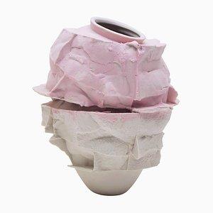 Hand-Sculpted Porcelain Vase by Monika Patuszyńska