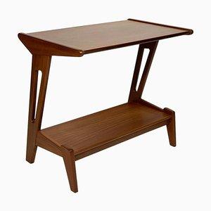 Italian Mid-Century Double Shelf Side Table