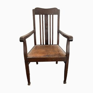 Solid Wood Chippendale Armchair