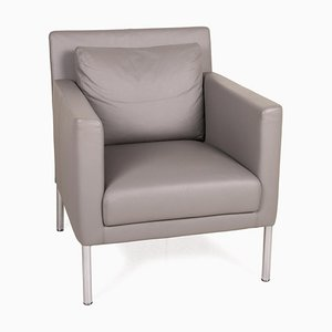 500 Gray Leather Armchair from Walter Knoll / Wilhelm Knoll
