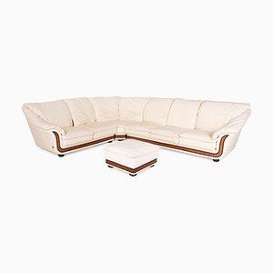 Cream Leather Sofa Set by Nieri Corniche, Set of 2