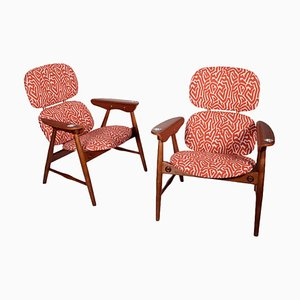 Padded Armchairs, Italy, 1960s