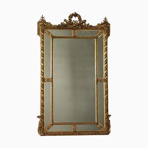 Neoclassical Style Golden Mirror