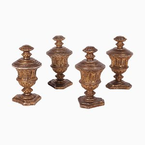 Wooden Neoclassical Vases, Set of 4
