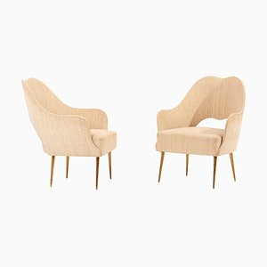 Lounge Chairs from ISA, Bergamo, Italy, 1950s, Set of 2