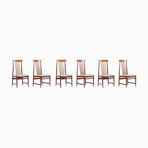 Spindle Back Dining Chairs, Denmark, 1960s, Set of 6