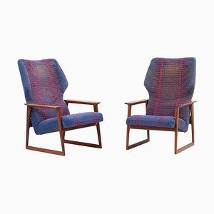 Danish Lounge Chairs by Hans Olsen, Denmark, 1960s, Set of 2